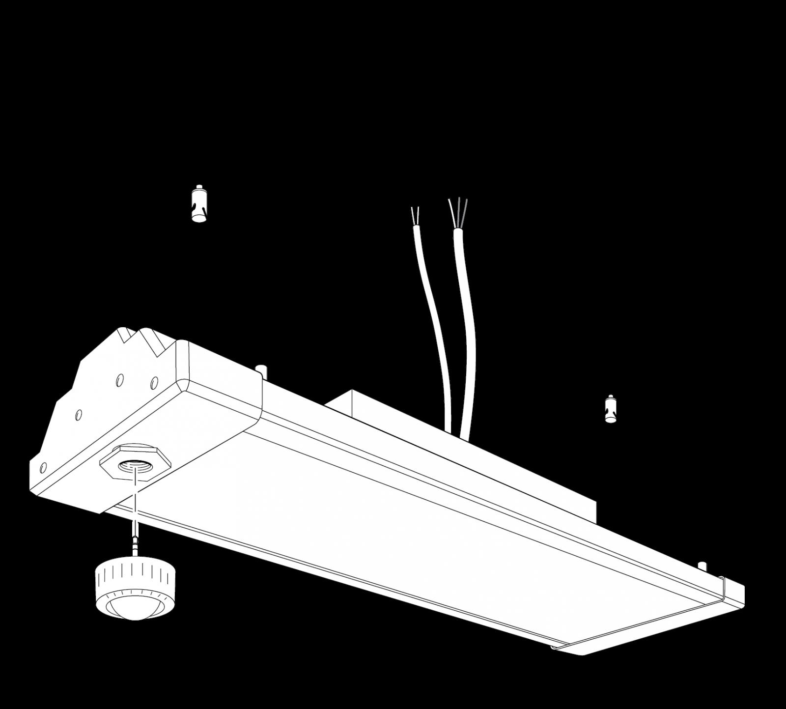 Linear High Bay with pluggable sensor