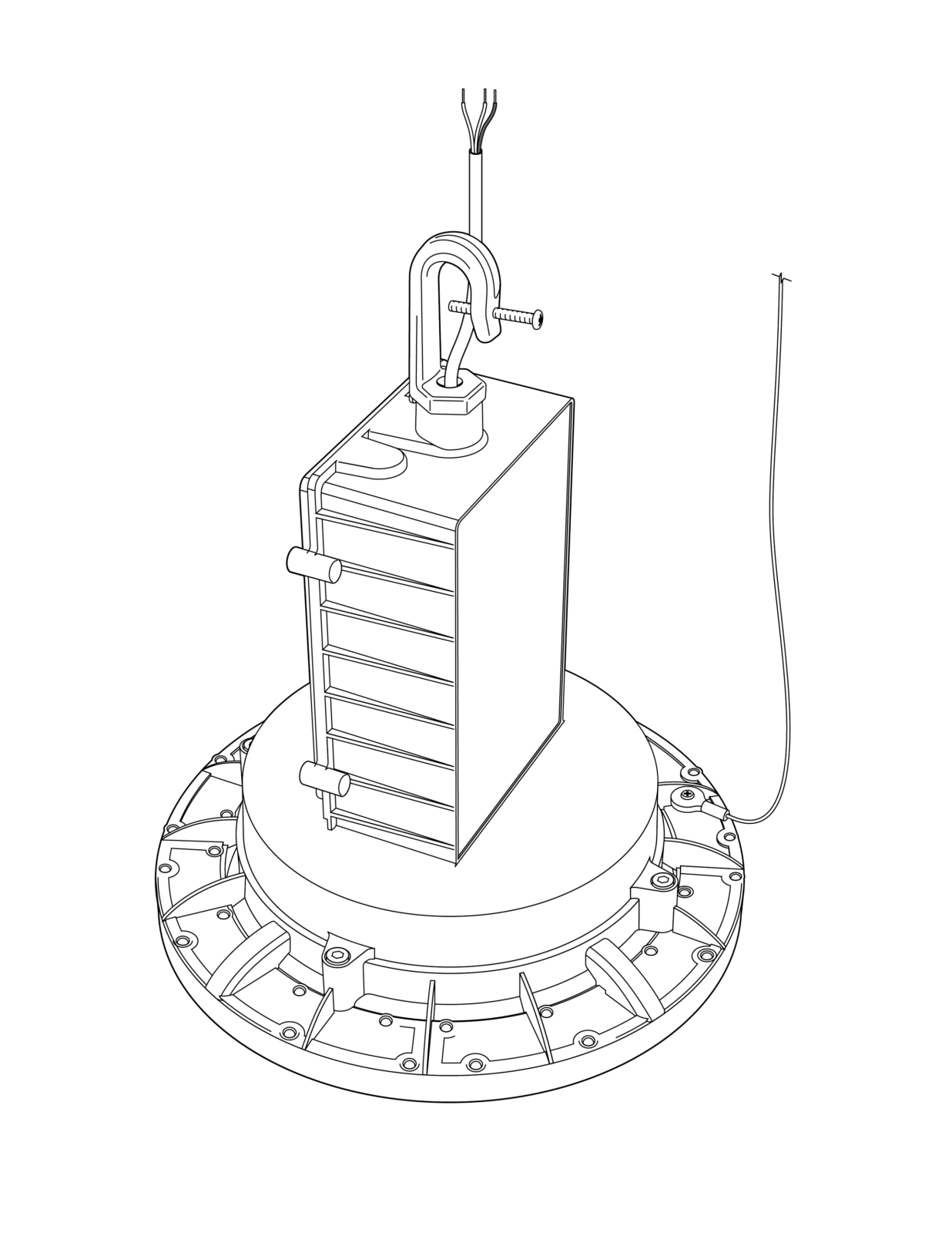 LED Emergency Light Suspension Mounting