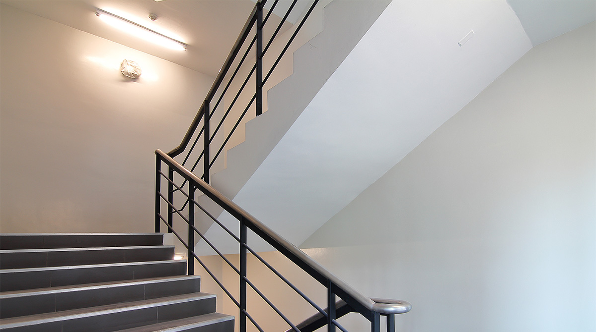 LED Stairwell Fixture in stairway application